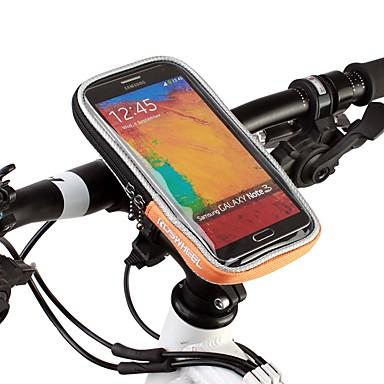 abordables Sacoches de Vélo-Sac de téléphone portable Sacoche de Guidon de Vélo 4.8 pouce Ecran tactile Cyclisme pour iPhone 8/7/6S/6 iPhone X iPhone XR Orange Vélo Cyclisme / iPhone XS / iPhone XS Max / 600D Polyester