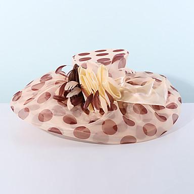 abordables Coiffes-Organza Kentucky Derby Hat / Fascinators / Chapeaux avec Fleur 1pc Mariage / Occasion spéciale / Décontracté Casque
