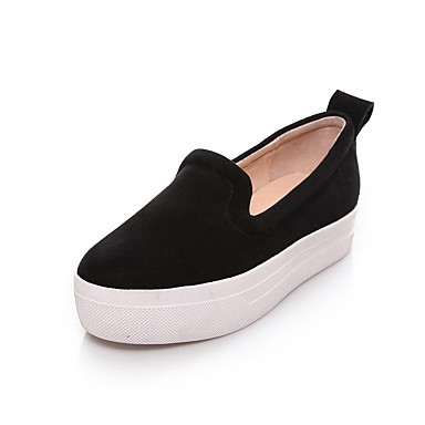 Automne Creepers D6148 mouton Vin Femme Peau de Chaussures Mocassins Confort Chaussons Noir et 06832745 vtwIzTw