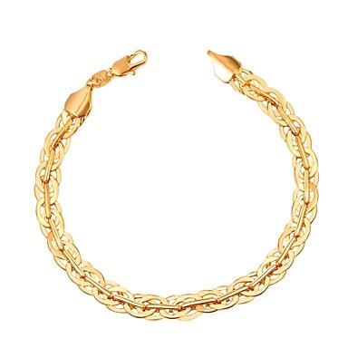 voordelige Herensieraden-Heren Armband Schakelketting Creatief Modieus Koper Armband sieraden Goud / Zwart / Zilver Voor Lahja Dagelijks