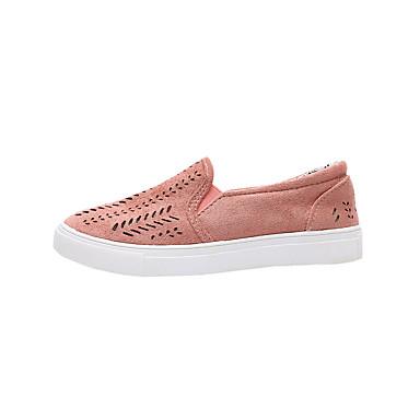 Confort Plano Elástica Mujer Dedo Zapatos invierno Tacón Rosa redondo Azul Otoño Tela 06795350 Bailarinas Paseo FgUgXqArc