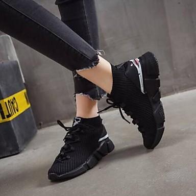 Chaussures Maille Blanc Plat Bout fermé d'Athlétisme Chaussures Noir Femme Confort Printemps Eté 06795962 Talon d5x86zPqw