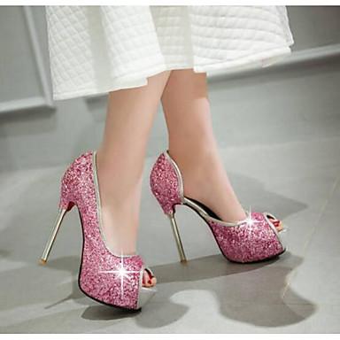 synthétique 06796370 Chaussures Basique Talons Noir Aiguille Printemps Femme Escarpin Blanc Matière Confort à Talon Chaussures Rose ZwnxETA