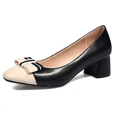 Noir Chaussures Confort Cuir Talon Femme à Printemps Chaussures 06810442 Amande Bottier Nappa Talons wqAxXBfv
