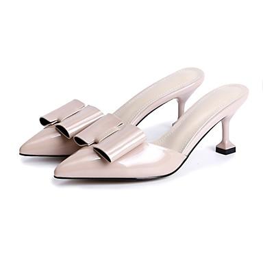 Chaussures Nappa Aiguille Mules Talon Vin amp; Eté Femme Amande 06840618 Confort Noir Sabot Cuir gqRgCw
