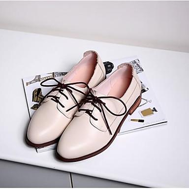06832964 Amande Printemps Oxfords Confort Bout Nappa Femme Cuir Eté fermé Talon Chaussures Plat 7qTfaf