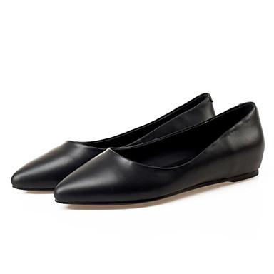 Žene Mekana koža Proljeće Udobne cipele Ravne cipele Ravna potpetica Crn