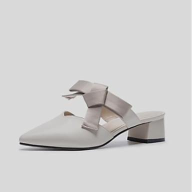 Cuir Eté amp; Femme Sabot Talon Bout Nappa Beige Confort Mules Bottier Chaussures 06790953 pointu tqfqHYwr5
