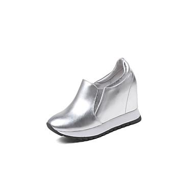 49f0f42f64212 ... Basket 06832715 Printemps Plateau Cuir Blanc été Nappa Argent Femme  Noir Confort Chaussures nHtwxRPqY6 ...