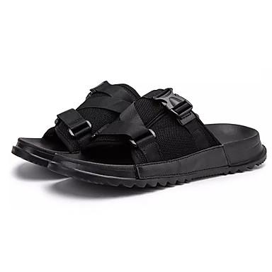 Men's Knit / Elastic Fabric Summer Black Comfort Slippers & Flip-Flops Black Summer 4a8c58