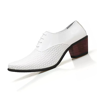 Men's White PU(Polyurethane) Spring Comfort Oxfords White Men's / Black 28de02