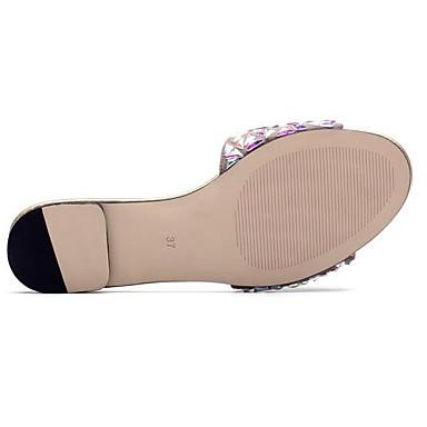 Daim Chaussures Talon Printemps 06838069 Femme Plat Confort Sandales Rose fRwBP5Fq