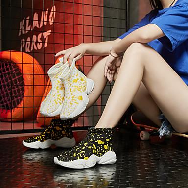 d'Athlétisme Bout Talon Botte Plat Printemps Polyuréthane Blanc 06832419 Chaussures Bottine Marche Femme été Noir Demi rond Maille Chaussures Confort f0P0wxzq