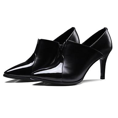 Femme Chaussures Cuir Nappa Printemps / Automne Confort Confort Confort / Escarpin Basique Chaussures à Talons Talon Aiguille Noir / Jaune c184ab