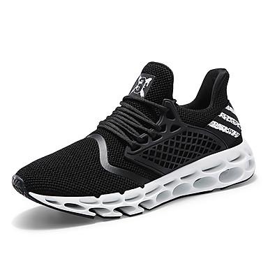 Muškarci Mrežica / PU Ljeto Udobne cipele Atletičarke tenisice Trčanje Crn / Sive boje / Crvena