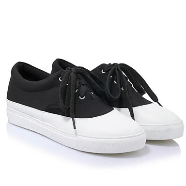 Tacón Tela Caqui Zapatos Punta Negro Confort 06832450 Plano deporte cerrada de Verano Rojo Mujer Primavera Zapatillas w8adn5g8q6