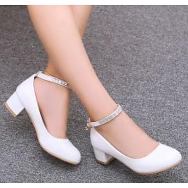 Confort Chaussures Escarpin Basique Chaussures Rouge Femme Polyuréthane Rose Printemps Automne Bottier à Talon 06791506 Talons Blanc YCxX1Iqd