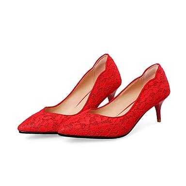 Satin été à Talons Aiguille 06795248 Talon Confort Printemps Rouge Femme Chaussures Chaussures CT5qwf