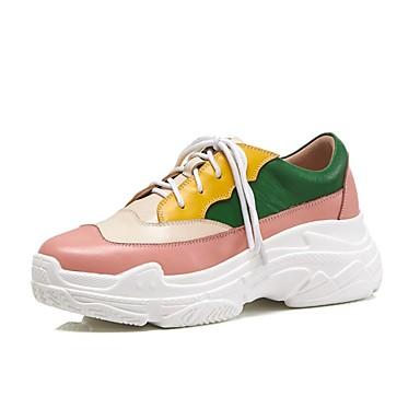 compensée Nappa Hauteur de Basket Cuir Chaussures Printemps 06827486 Femme Rose été semelle Confort S80pvq8Ew