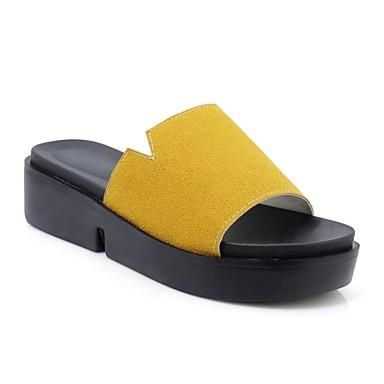 Talon Bas Jaune Rose Chaussons Eté Vert Tongs amp; Daim Confort 06828171 Femme Chaussures xpqO844