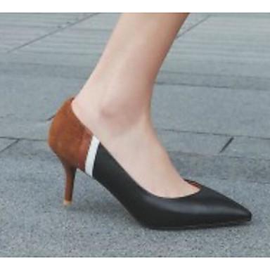 Talons Chaussures Talon Basique Femme Confort Cuir Eté Noir Beige Escarpin à Nappa Chaussures Aiguille 06776026 xUCqSzH