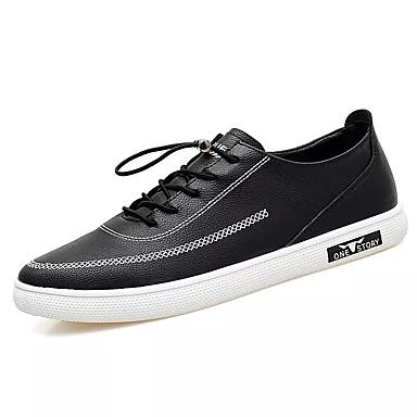 Muškarci Cipele Mekana koža / Koža Proljeće Udobne cipele Sneakers Obala / Crn