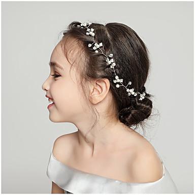voordelige Dames Sieraden-Dames Eenvoudig Bruiloft Zuigeling Stof Legering Kristal Haarbanden Bruiloft Feest - Bloemen