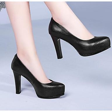 Talons Escarpin Printemps Talon Nappa 06834863 Chaussures Chaussures Aiguille Noir Femme Cuir Blanc Basique à Aq8wR