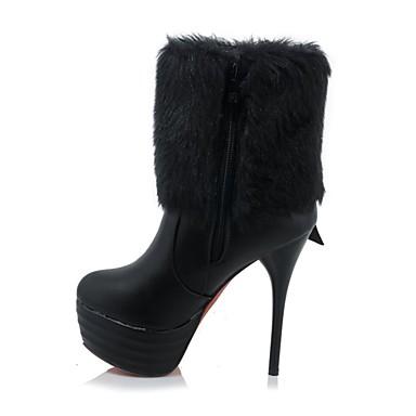Polyuréthane hiver Aiguille Mode Automne Chaussures Noir à Bottes Botte la Bottine Talon Femme Demi Bottes 06833408 Blanc f5qBtwt