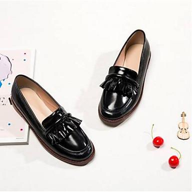 Bout Microfibre Chaussures 06791315 Talon Confort Rose rond Plat Ballerines Noir Femme Eté 50d7xqww