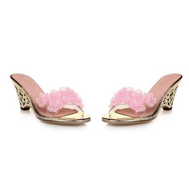 Sandalias Pump Confort Zapatos 06793165 Verano Tacón Rosa Blanco Básico PU Mujer Cuña Ix6OqfwYxn