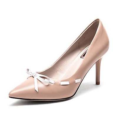 Nappa Rose Chair Femme Automne Escarpin Printemps Confort Noir Talons Chaussures Chaussures 06791772 Basique à Aiguille Cuir Talon 6BnBwqExA