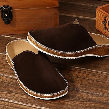 Muškarci Udobne cipele PU Ljeto Papuče i japanke Crn / Braon