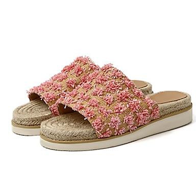 Eté Tongs amp; Plat Talon Chaussures Confort Cuir Noir 06781751 Amande Rose Femme Chaussons wAxCqExa