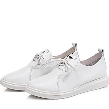 Chaussures Eté Cuir Confort Plat Blanc Oxfords Nappa 06832686 Femme Printemps fermé Bout Talon Noir dwIpdq