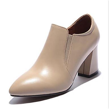 Bottier 06791513 Escarpin Confort à Cuir Chaussures Amande Chaussures Noir Printemps Talons Automne Nappa Basique Femme Talon YFW7BfnF