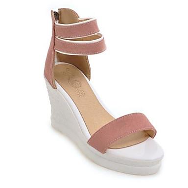 PU Rosa Mujer Cuña Tacón Sandalias Zapatos Negro 06797602 Pump Amarillo Confort Verano Básico Sqx8r5qwBP