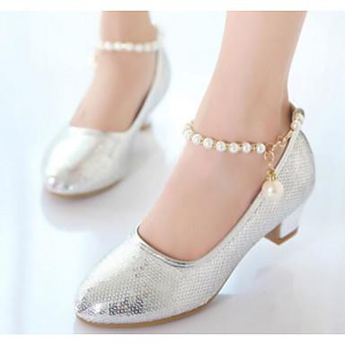 865b4257a0e Girls  Shoes PU(Polyurethane) Spring   Fall Flower Girl Shoes   Tiny Heels