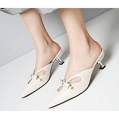 Chaussures Nappa Beige Noir Sabot Mules Femme Talon Confort Cône Printemps amp; 06791928 Cuir Basique Escarpin dEAHqBA