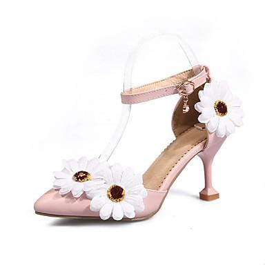 Žene Cipele PU Proljeće ljeto Obične salonke Cipele na petu Stiletto potpetica Krakova Toe Obala / Pink