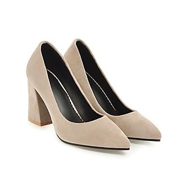base des talons de chaussures en daim été / pompe talon noir / été beige et jaune chunky 89e97a