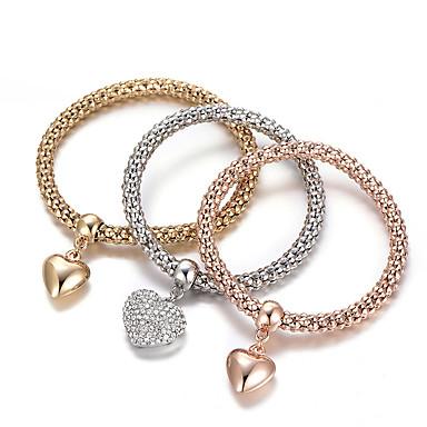 ab8c0bec0 Women's Charm Bracelet Bracelet Bangles Layered Stack Stacking Stackable  Heart Love Ladies Luxury European Simple Style Fashion Rhinestone Bracelet  Jewelry ...