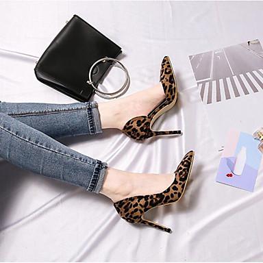 Printemps Aiguille Talons 06778529 Faux Soirée Talon Léopard Basique Escarpin Femme amp; Chaussures été à Evénement pointu Bout Cuir Chaussures zq5UftwP