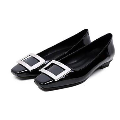 Femme 06833258 Printemps fermé Eté Ballerines Nappa Bout Noir Talon Plat Chaussures Confort Marron Cuir 1Oqr1A