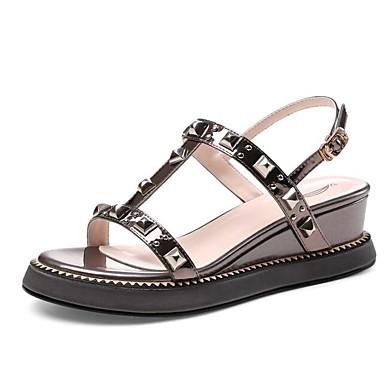 Talon 06827617 Gris Rose Sandales Plat Femme Confort Polyuréthane foncé Chaussures Argent Eté 1Pw1Xa6xq