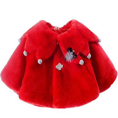 levne Dětské bundičky a kabátky-Dítě Dívčí Aktivní Denní Jednobarevné Patchwork Dlouhý rukáv Standardní Bavlna / Polyester Bundičky a kabáty Bílá