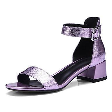 Basique Eté 06834810 Chaussures Confort Escarpin mouton Peau de Femme Bottier Talon Sandales Rose Argent RIq0FxwO