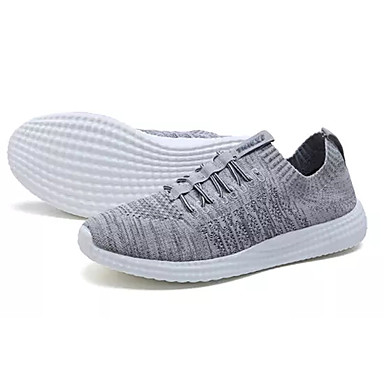 Men's Knit / Elastic Fabric Summer Comfort Athletic Shoes Walking / Shoes Color Block Gray / Walking Blue / Black / Red 4a8a70