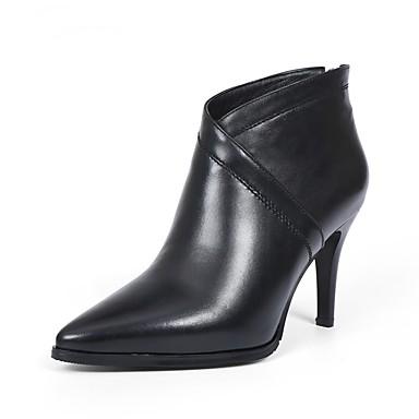 Aiguille Bottes Talon Femme 06840846 Chaussures Noir hiver Nappa Automne Vin Confort Cuir gYg0Z8