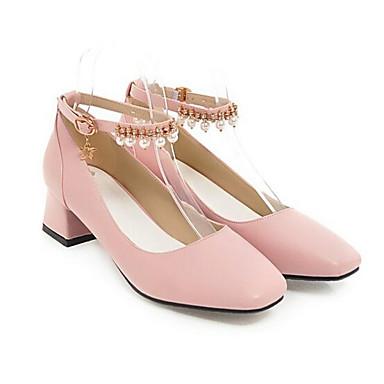 Negro Tacón Blanco Rosa Primavera 06831911 Zapatos Mujer Confort Tacones PU Cuadrado nFwZ8nqRpX